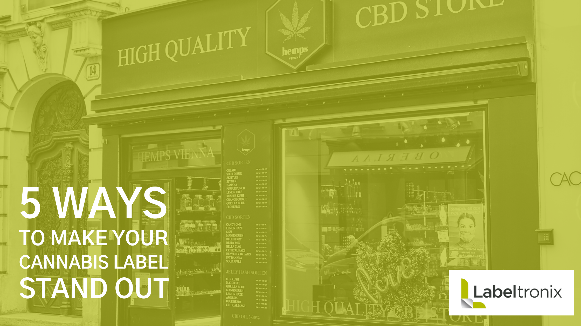 5 Ways to Make Your Cannabis Label Stand Out