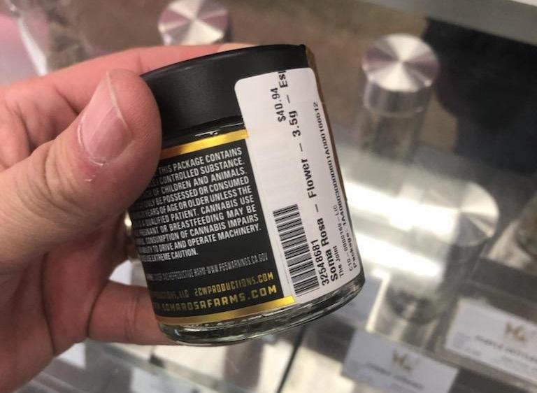 Cannabis Compliance Label