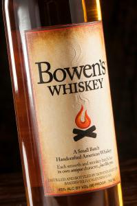 embossed whiskey label