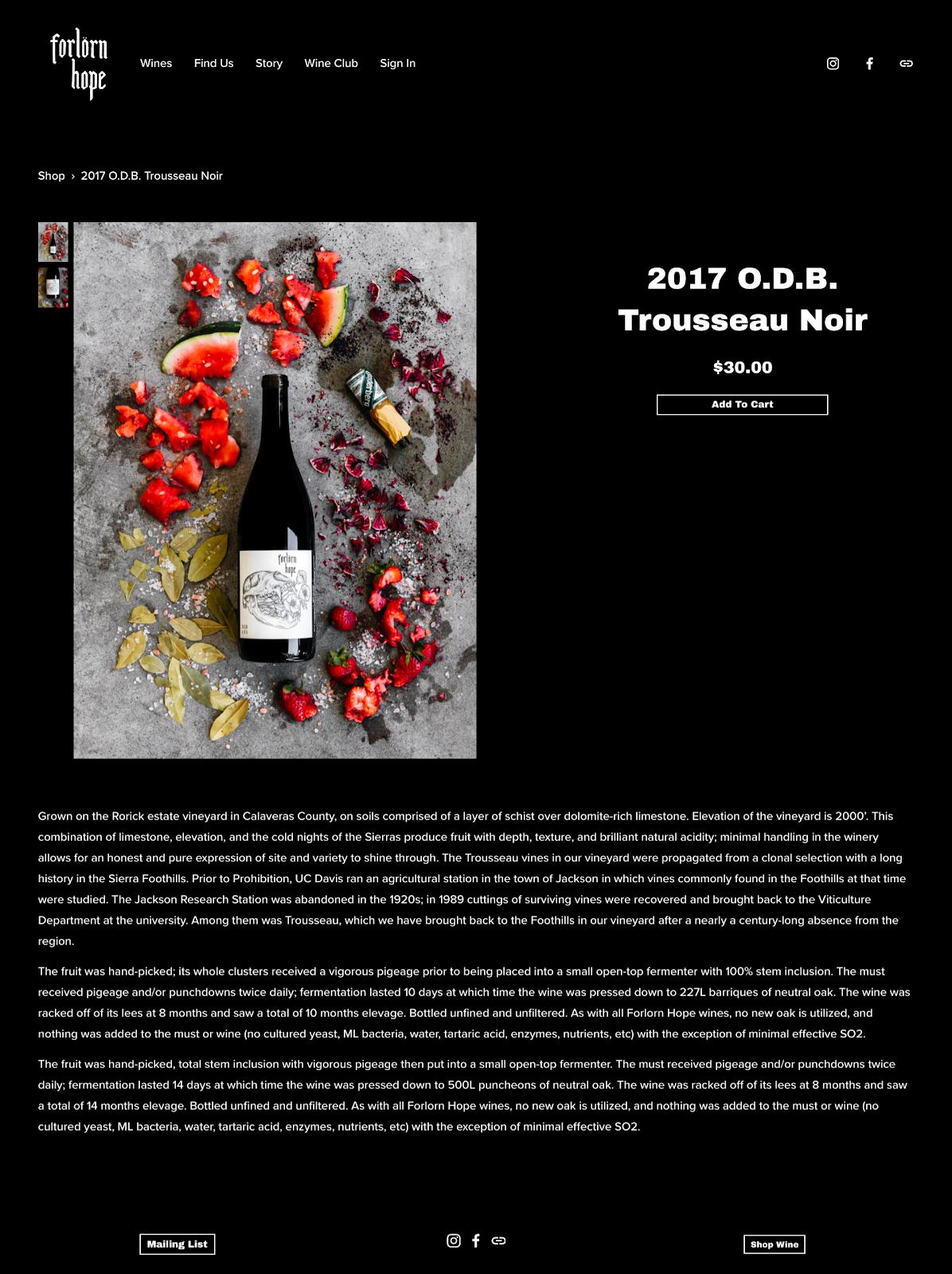 wine label photography